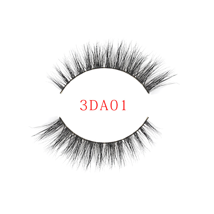 Wholesale Private Label Handmade False Eyelashes Real Mink Fur Strip Lashes