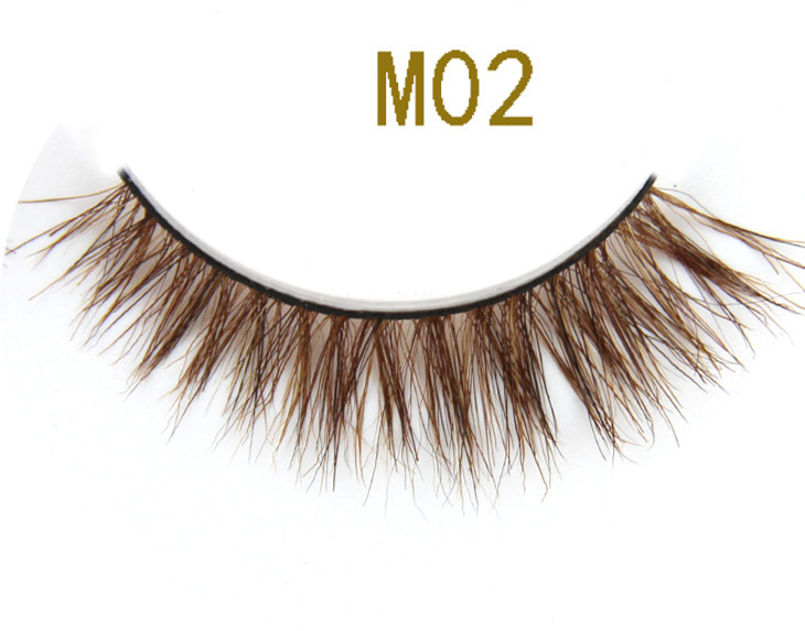 Private Label Custom Eyelash Packaging False Eyelashes Real Horse Fur Lashes Strips