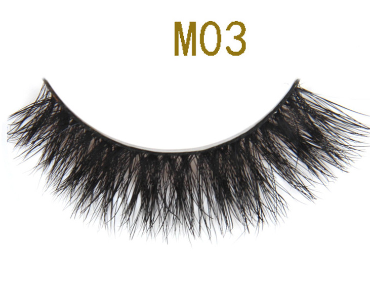 Natural Fur Eyelash Full Strip False Horse Eyelashes
