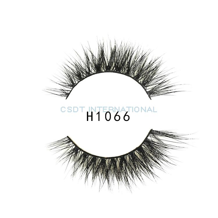 Handmade Type Horse Hair Lashes False Strip Horse Fur Lashes Horse Hair Strip Eyelash