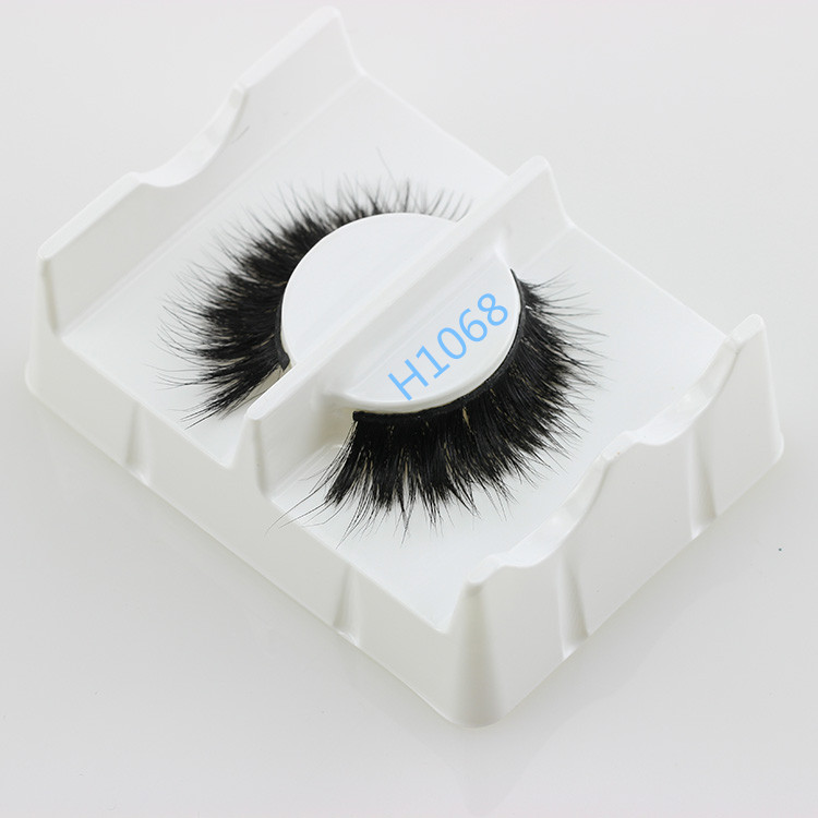 Top quality Perfect 100%Horse Hair False Eyelashes Thick Horse Fur Strip Fake Lashes
