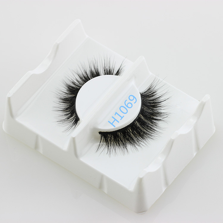 100% Hand Made Invisible Band horse hair False Eyelashes with Own Brand Packaging