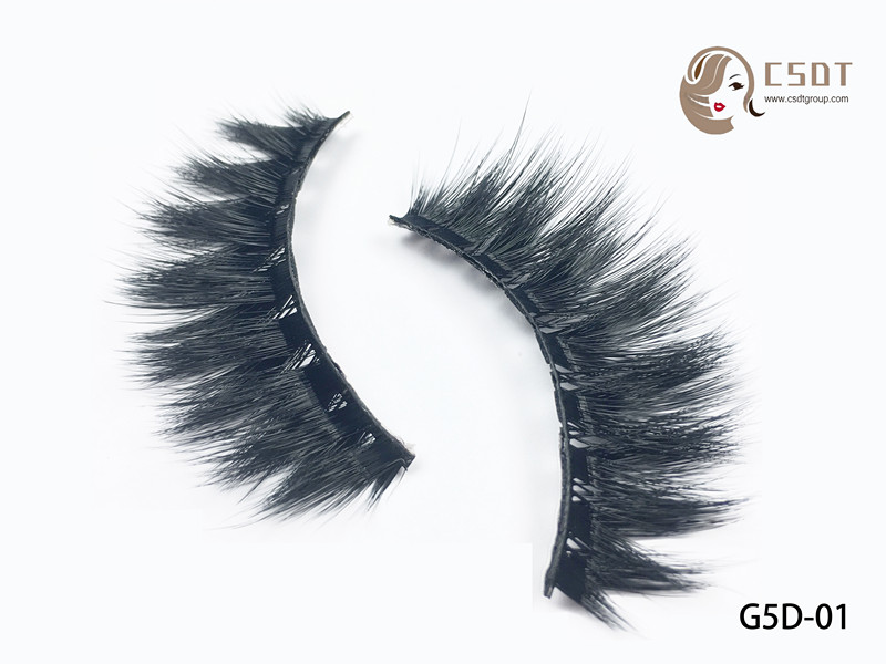 Korean Synthetic Material 0.05 3d Faux Mink custom Eyelash circle empty packaging box
