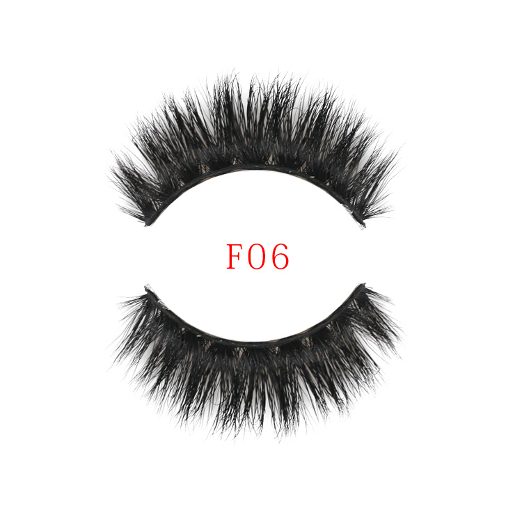 Beauty Natural Looking 100% Handmade Real Mink False Strip Eyelashes