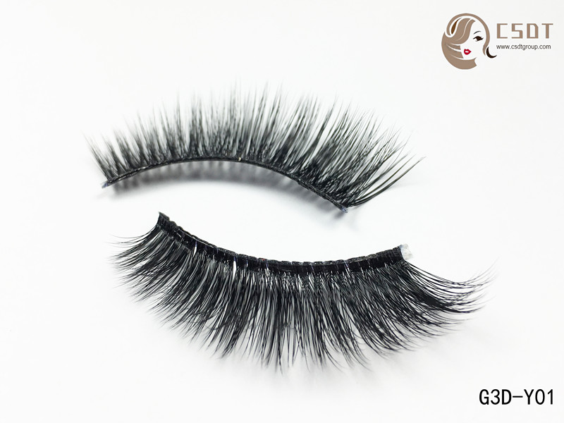 Factory Price Handmade Soft 3D Silk False Eyelashes, Long And Soft Silk lashes