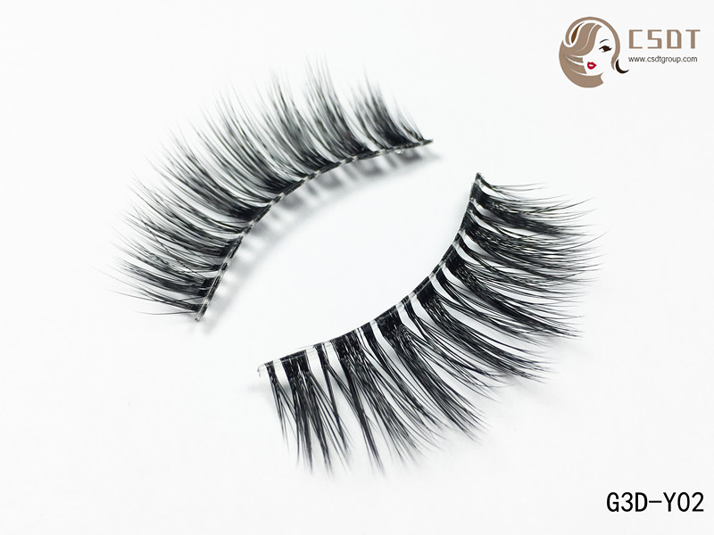 Create Your Own Brand Eyelashes Packaging Available Wholesale 3D Silk Strip False Eyelashes